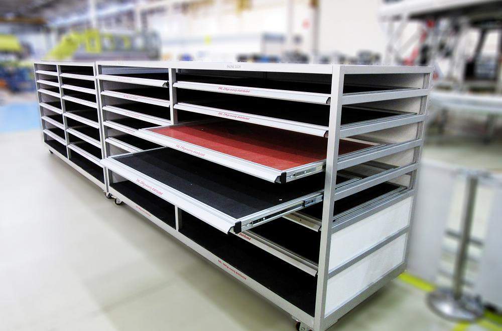 Aluminium 12 Drawer De-Panel Rack