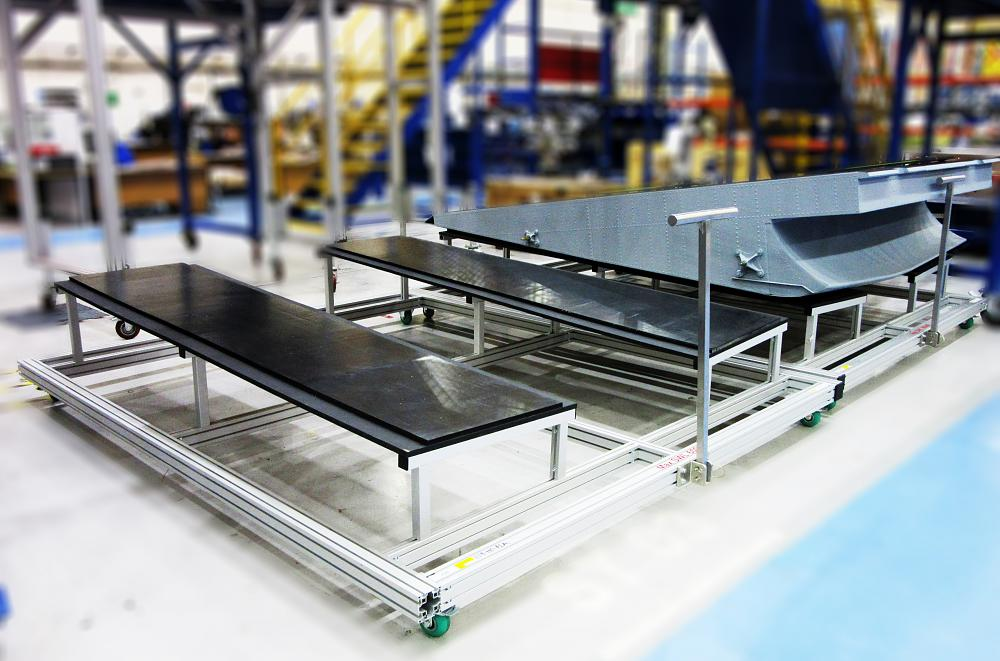 Aluminium Ramp Storage Trolley