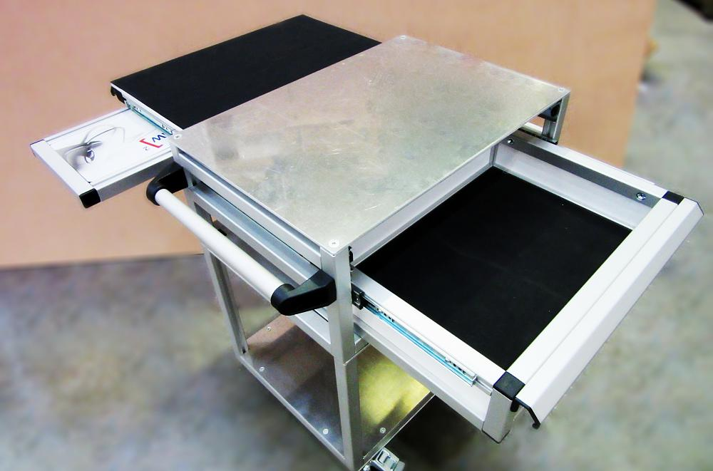 Aluminium Icy Laser Tracker Trolley